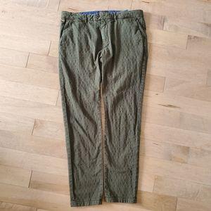Green polkadot Scotch and Soda Mott pants